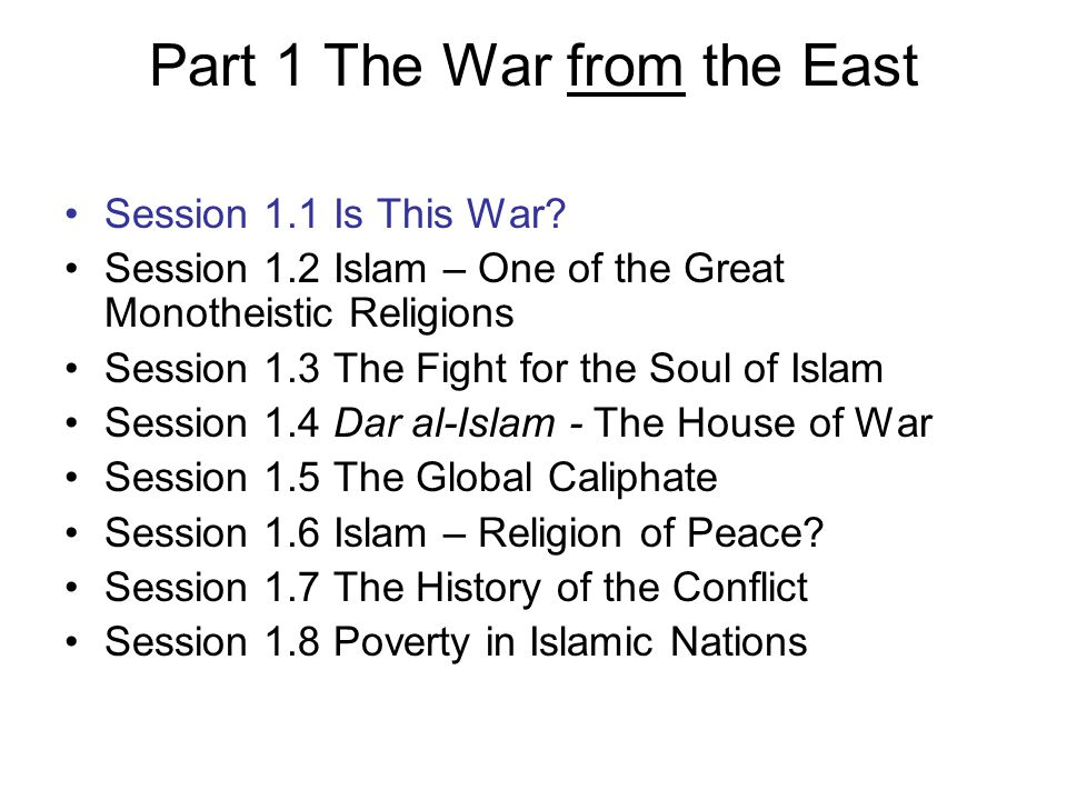 Part 1 The War from the East