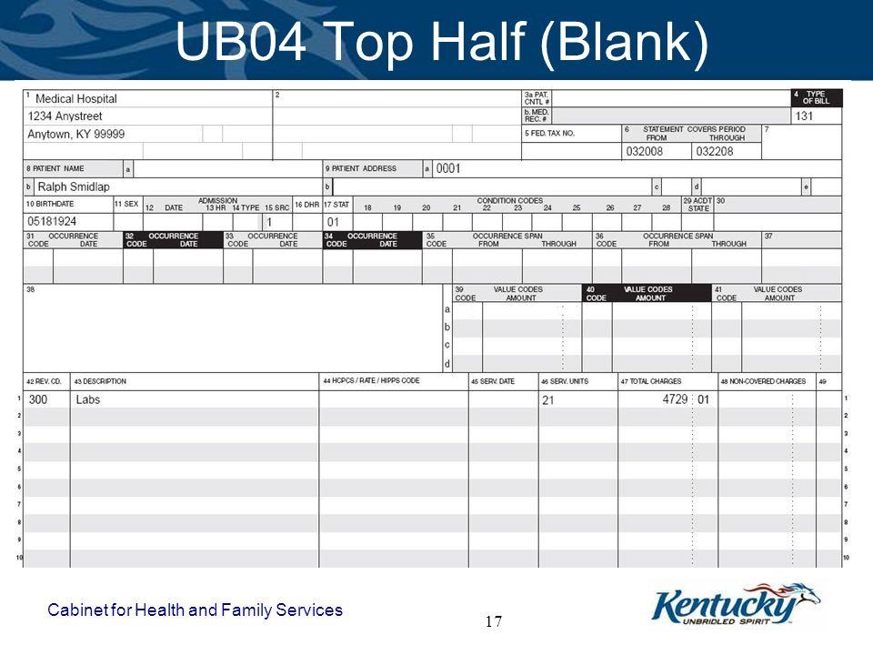 UB04 Top Half (Blank)