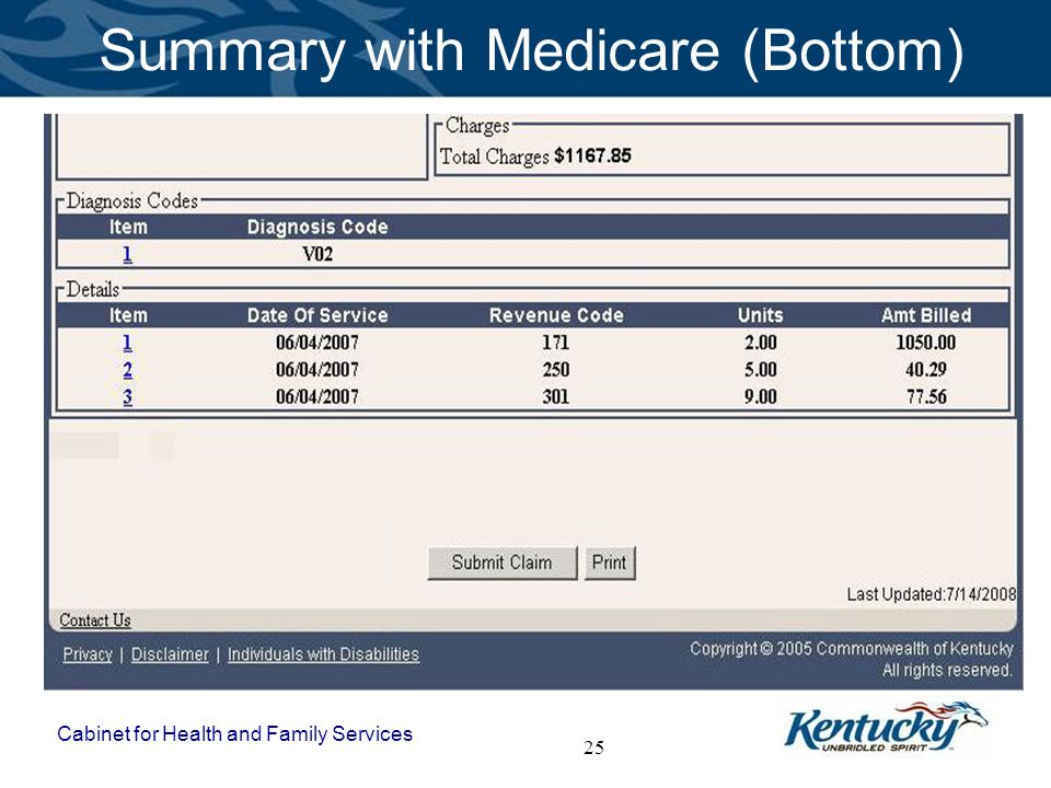 Summary with Medicare (Bottom)