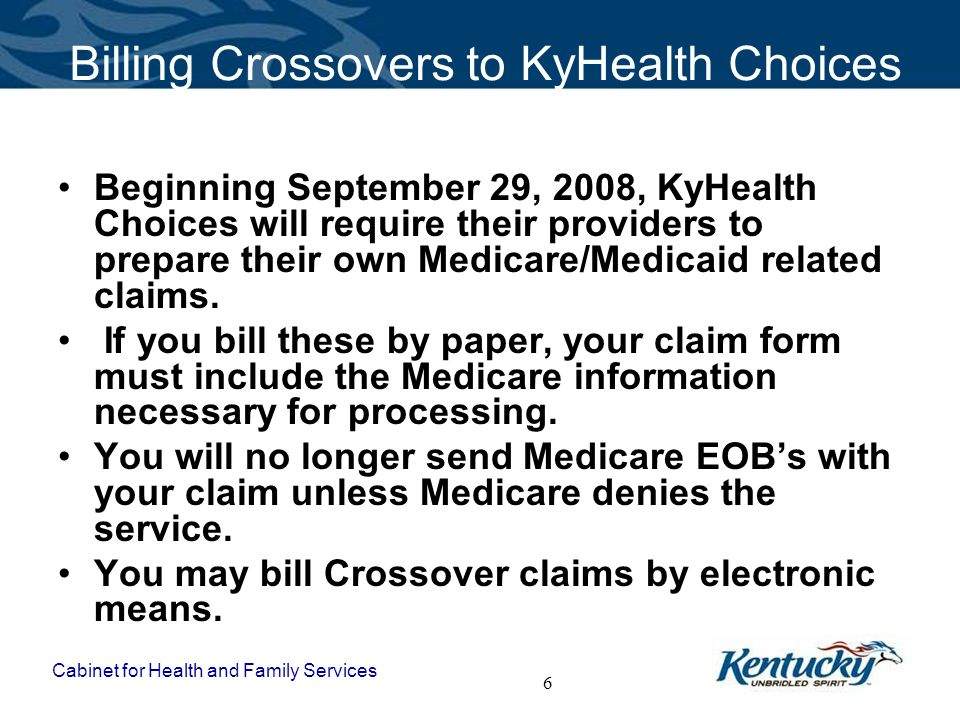Billing Crossovers to KyHealth Choices