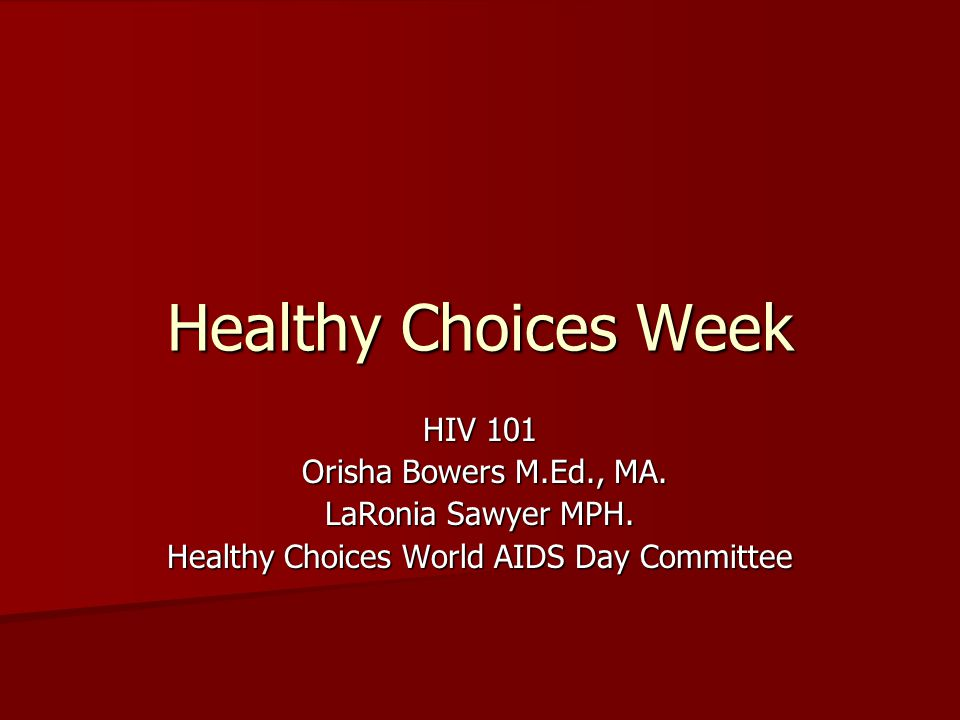 Healthy Choices World AIDS Day Committee