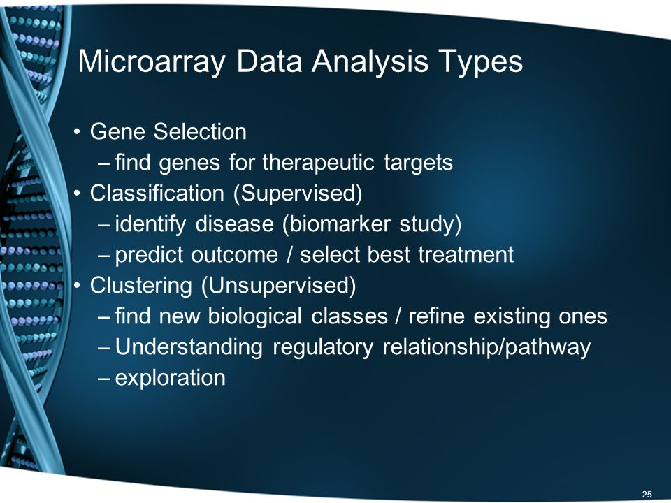 Microarray Data Analysis Types