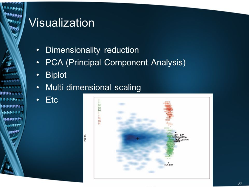 Visualization Dimensionality reduction