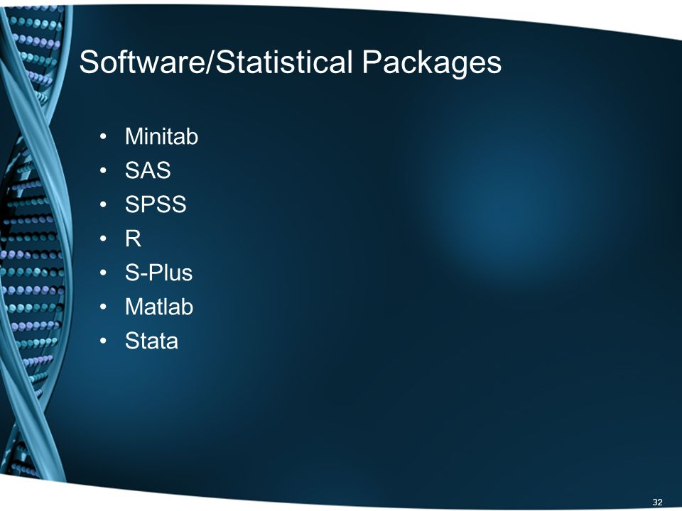 Software/Statistical Packages