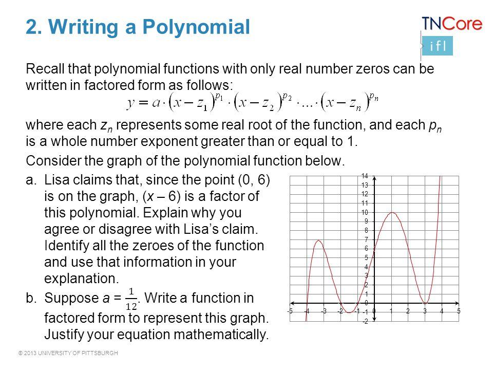 2. Writing a Polynomial