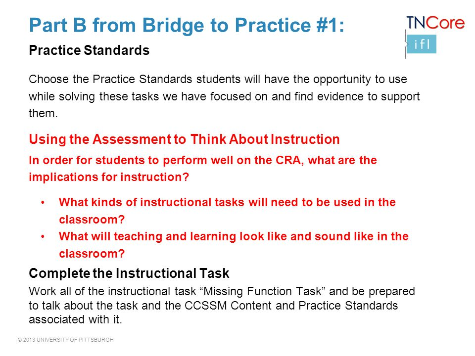 Part B from Bridge to Practice #1: