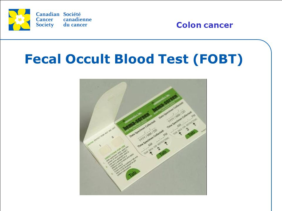 Fecal Occult Blood Test (FOBT)