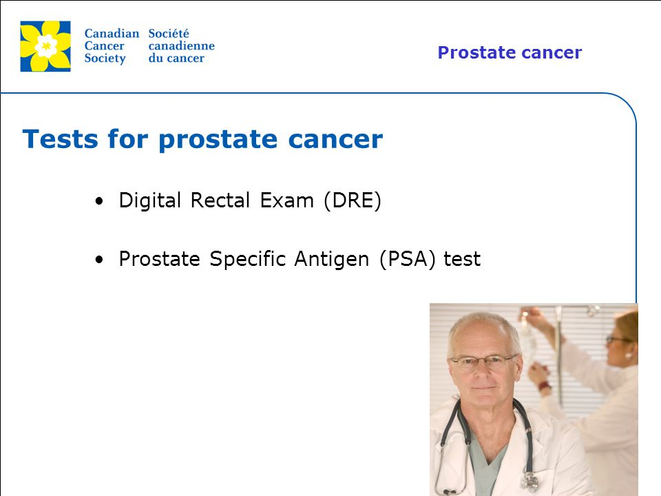 Tests for prostate cancer