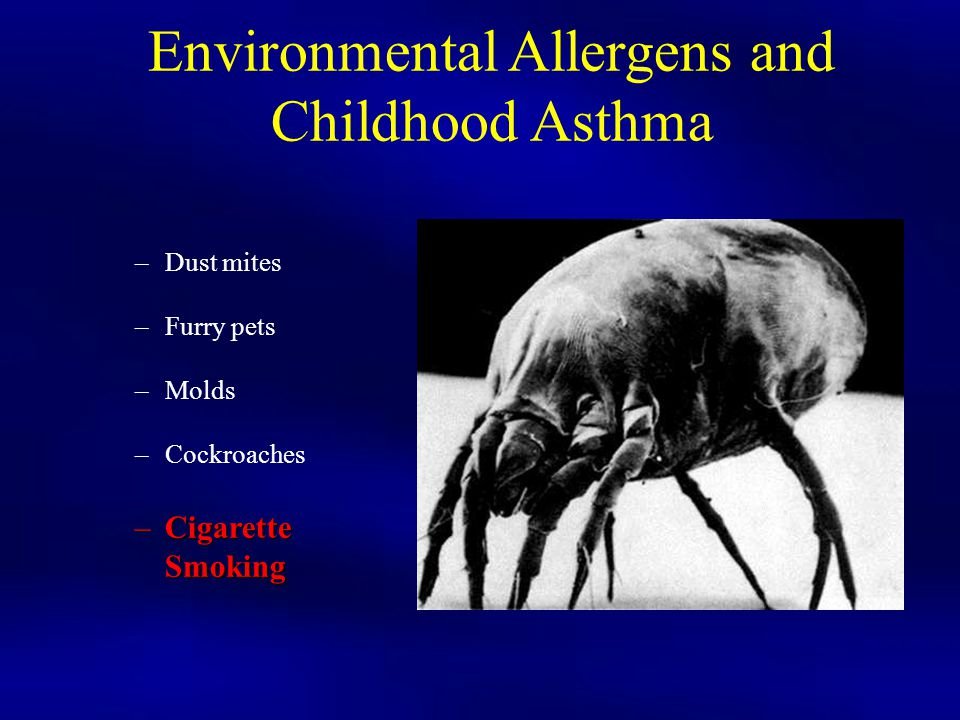 Environmental Allergens and Childhood Asthma
