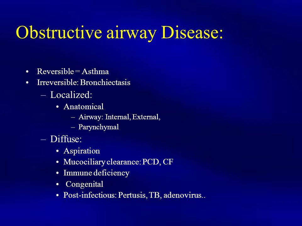 Obstructive airway Disease: