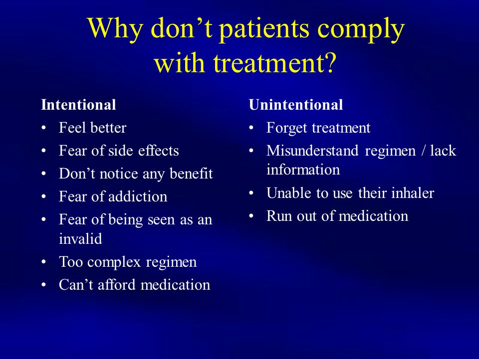 Why don't patients comply with treatment