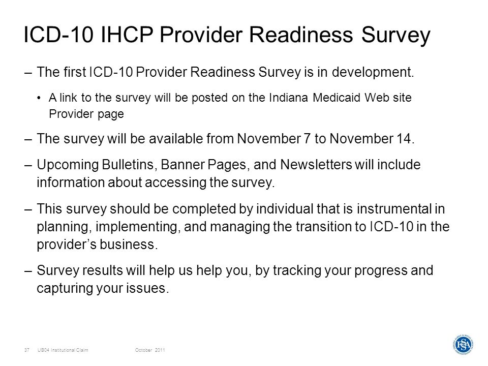 ICD-10 IHCP Provider Readiness Survey