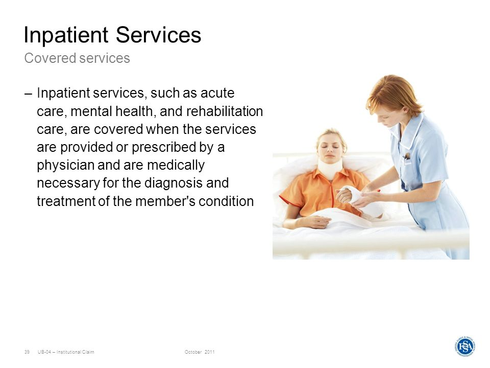 Inpatient Services Covered services