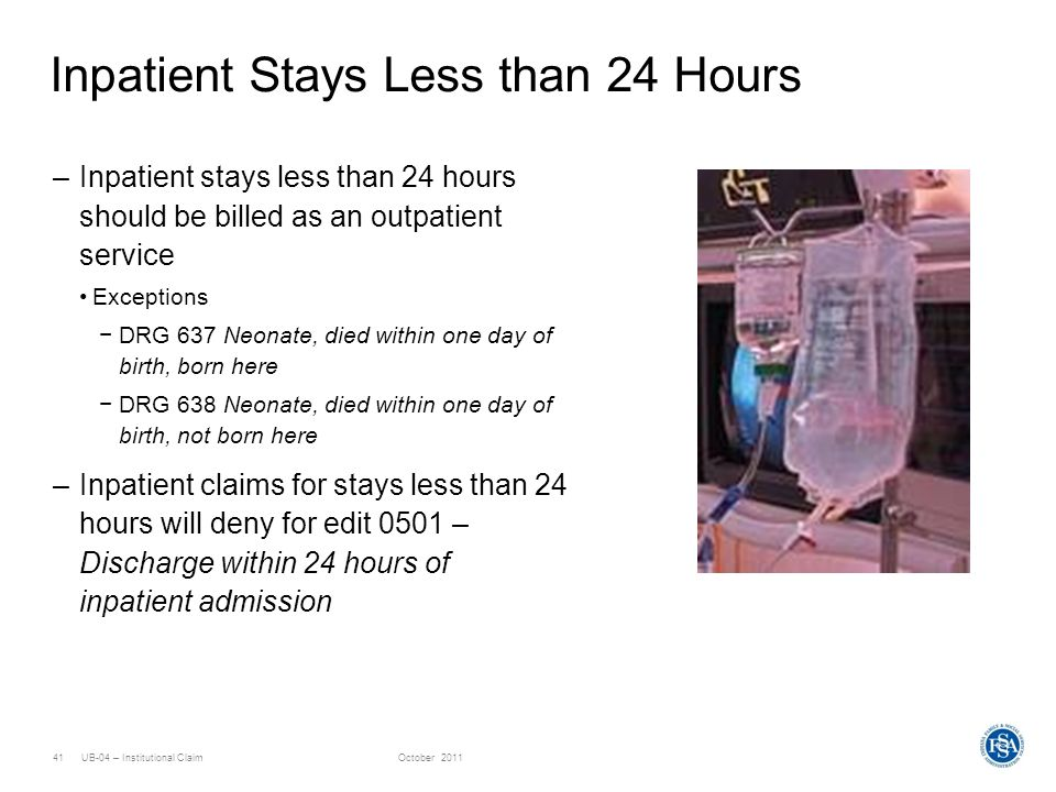 Inpatient Stays Less than 24 Hours