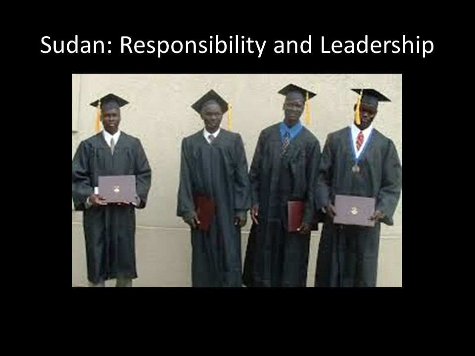 Sudan: Responsibility and Leadership