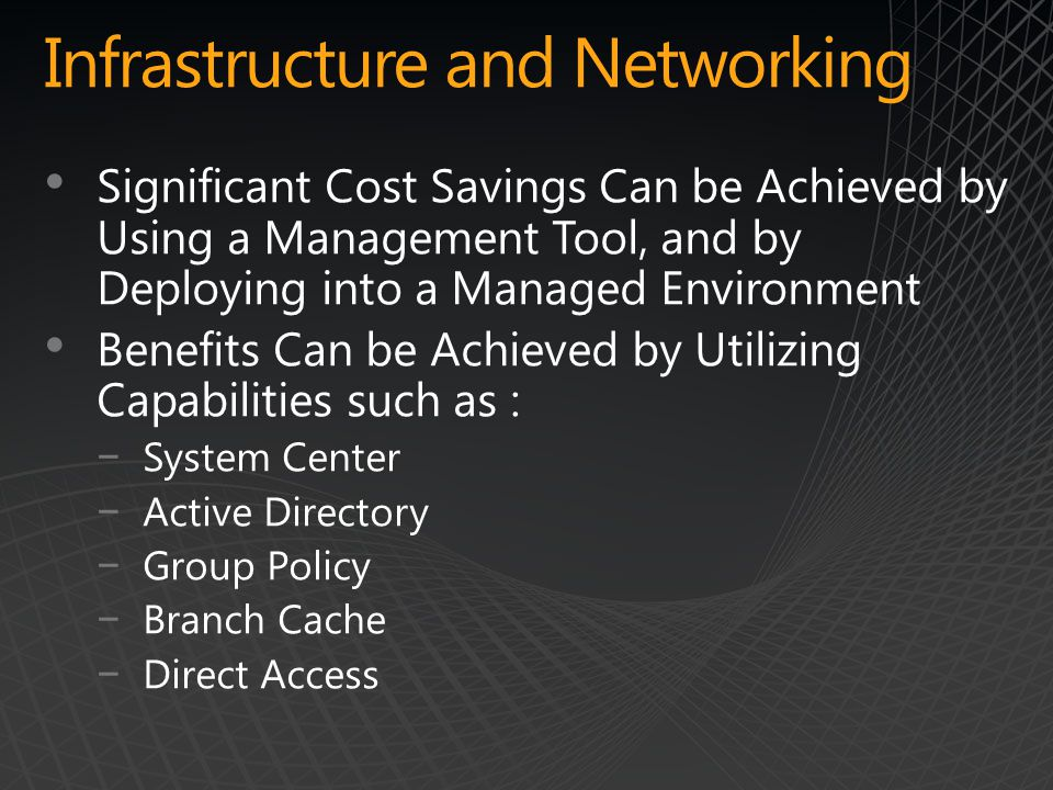 Infrastructure and Networking