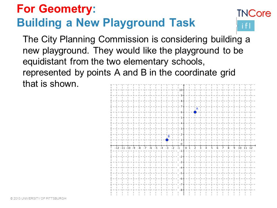 For Geometry: Building a New Playground Task