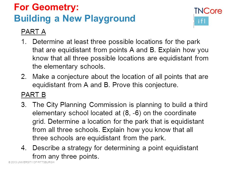 For Geometry: Building a New Playground