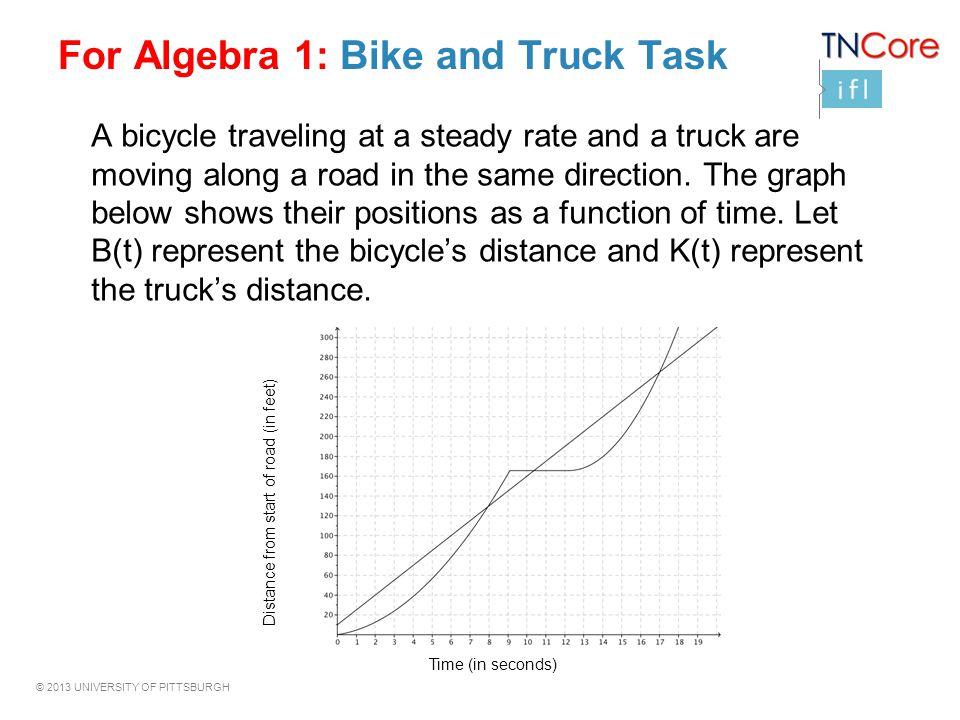 For Algebra 1: Bike and Truck Task