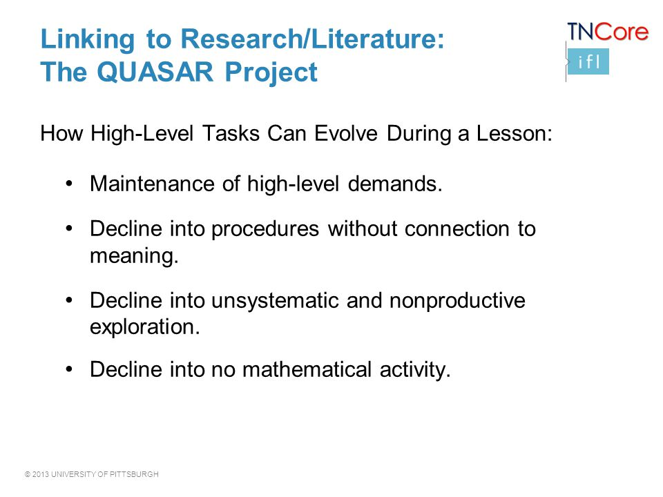 Linking to Research/Literature: The QUASAR Project