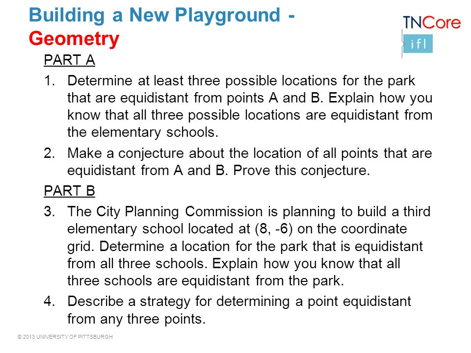 Building a New Playground - Geometry