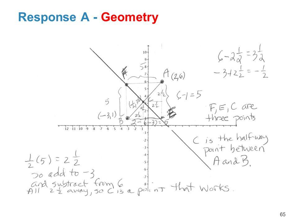 Response A - Geometry 65 Facilitator Notes: