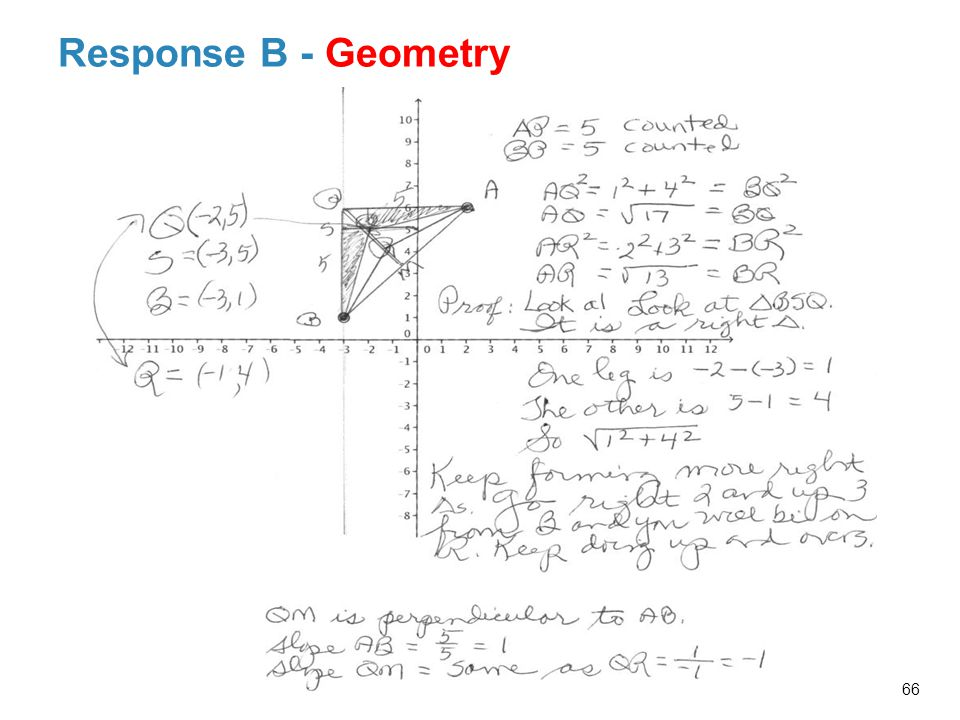 Response B - Geometry Probing Facilitator Questions and Possible Responses Related to Response B's Work:
