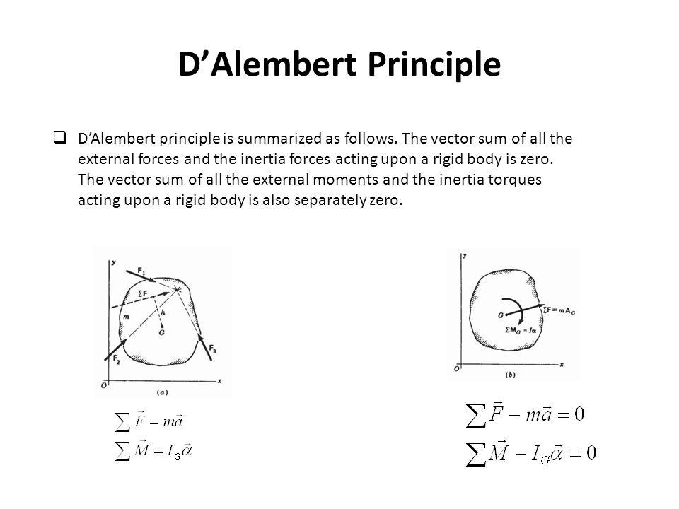 D'Alembert Principle