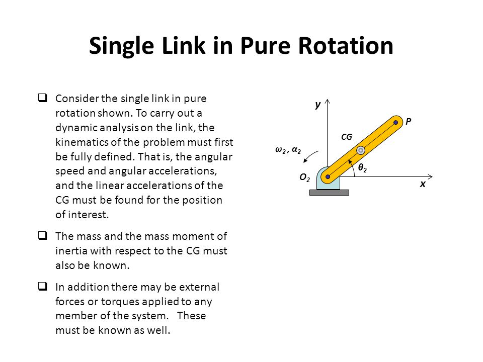 Single Link in Pure Rotation