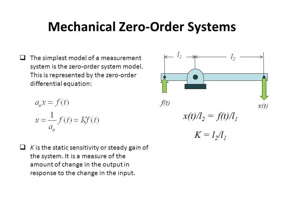 Mechanical Zero-Order Systems