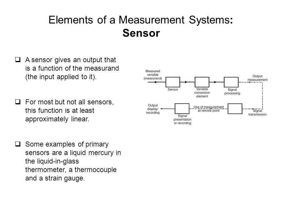 Elements of a Measurement Systems: Sensor