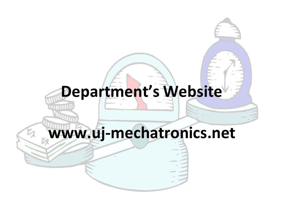 Department's Website www.uj-mechatronics.net