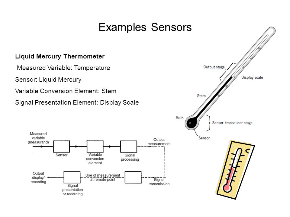 Examples Sensors Liquid Mercury Thermometer