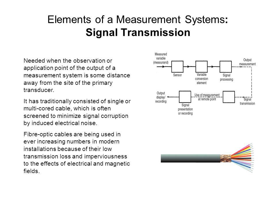 Elements of a Measurement Systems: Signal Transmission