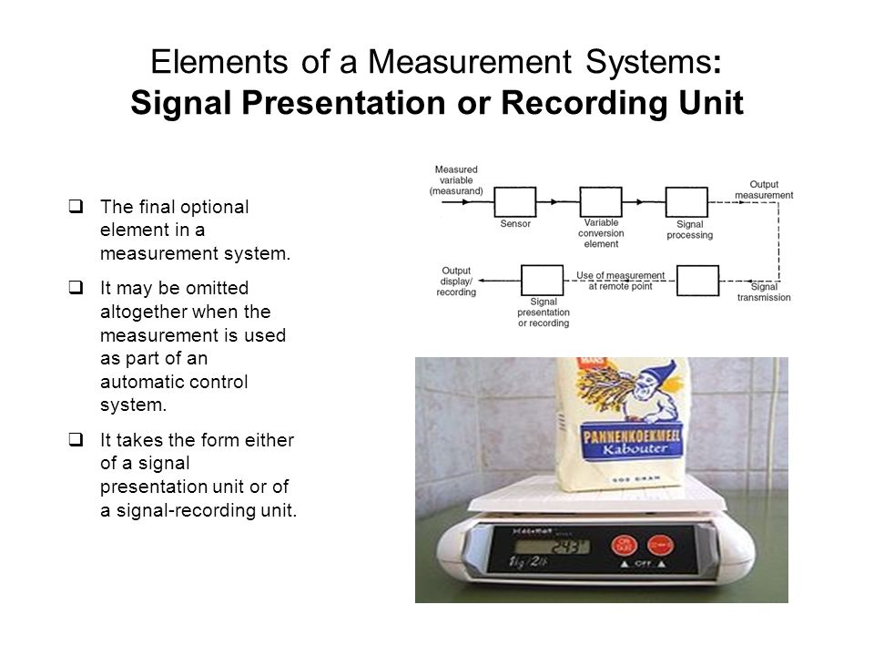 Elements of a Measurement Systems: Signal Presentation or Recording Unit