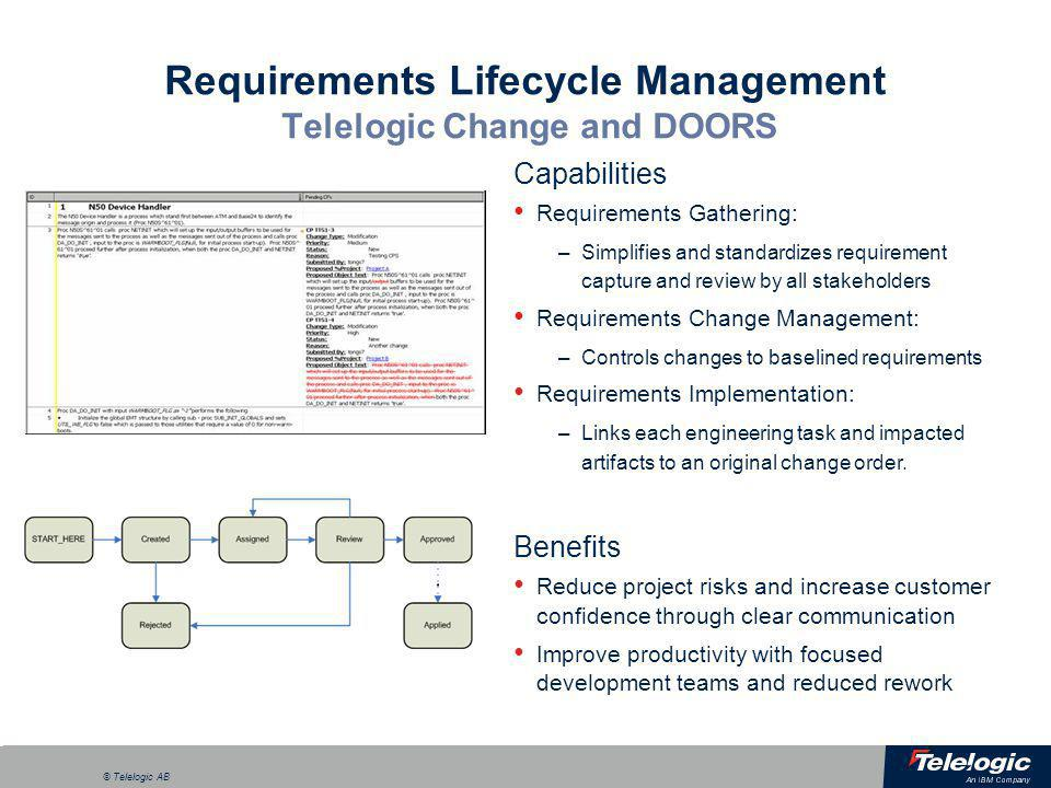 Requirements Lifecycle Management Telelogic Change and DOORS  sc 1 st  Pezcame.Com : doors telelogic - pezcame.com