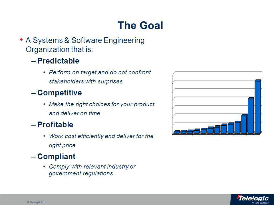 The Goal A Systems & Software Engineering Organization that is: