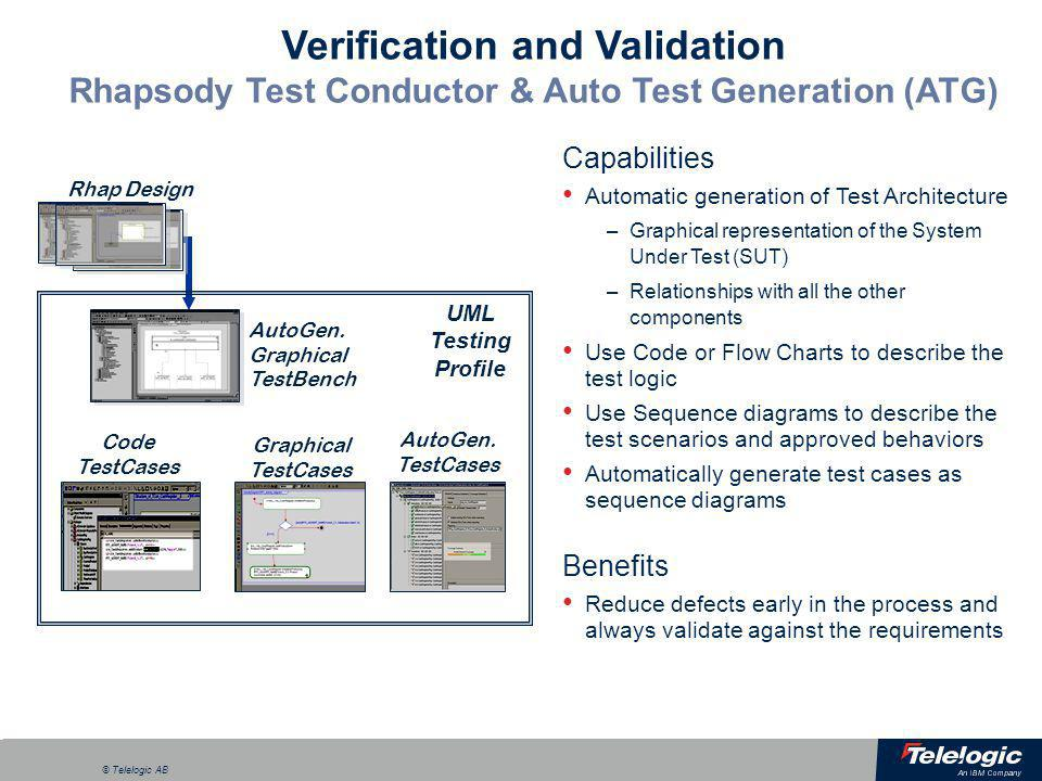 Verification and Validation Rhapsody Test Conductor & Auto Test Generation (ATG)