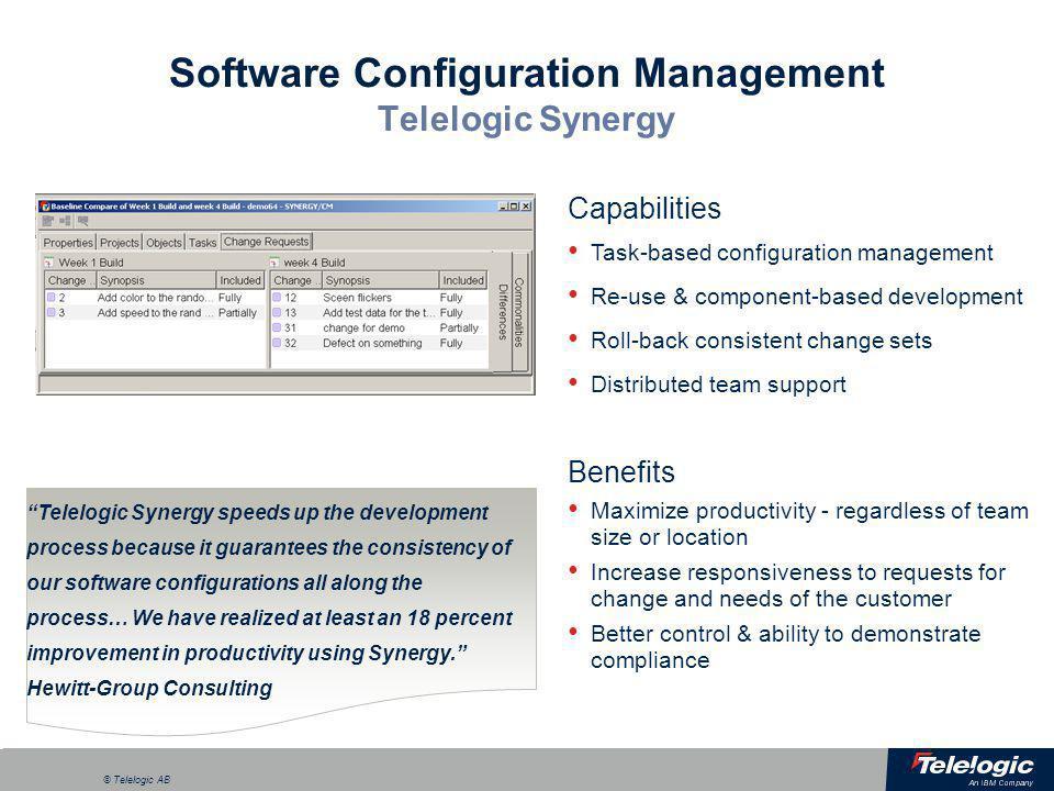 Software Configuration Management Telelogic Synergy