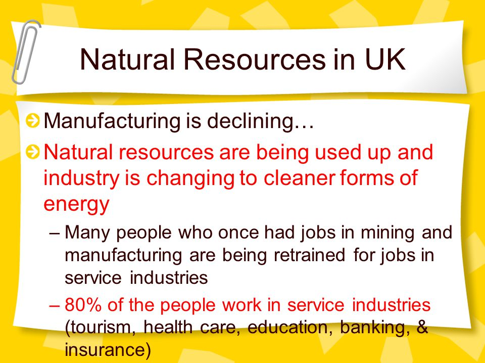 Natural Resources in UK