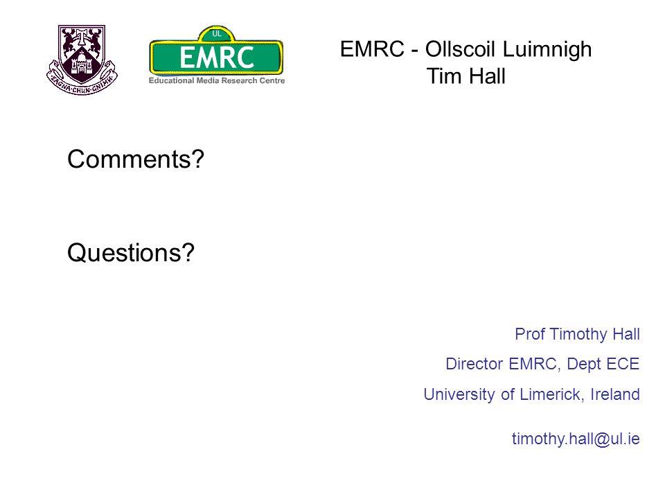 EMRC - Ollscoil Luimnigh Tim Hall