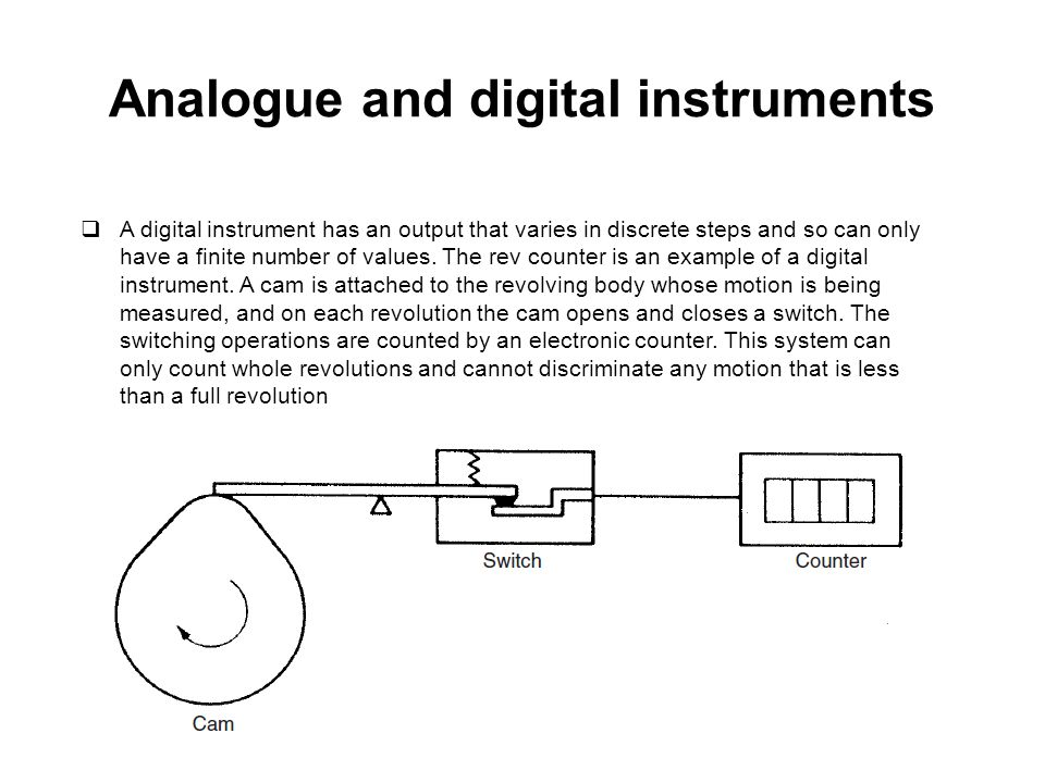 Analogue and digital instruments