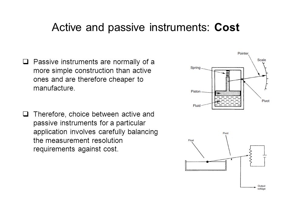 Active and passive instruments: Cost