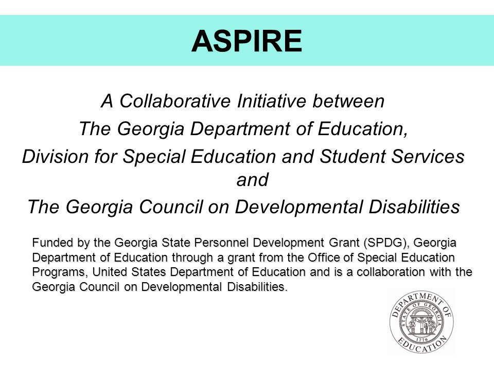 ASPIRE A Collaborative Initiative between