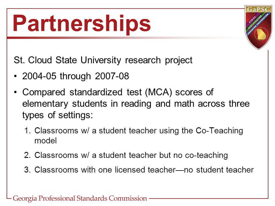 Partnerships St. Cloud State University research project