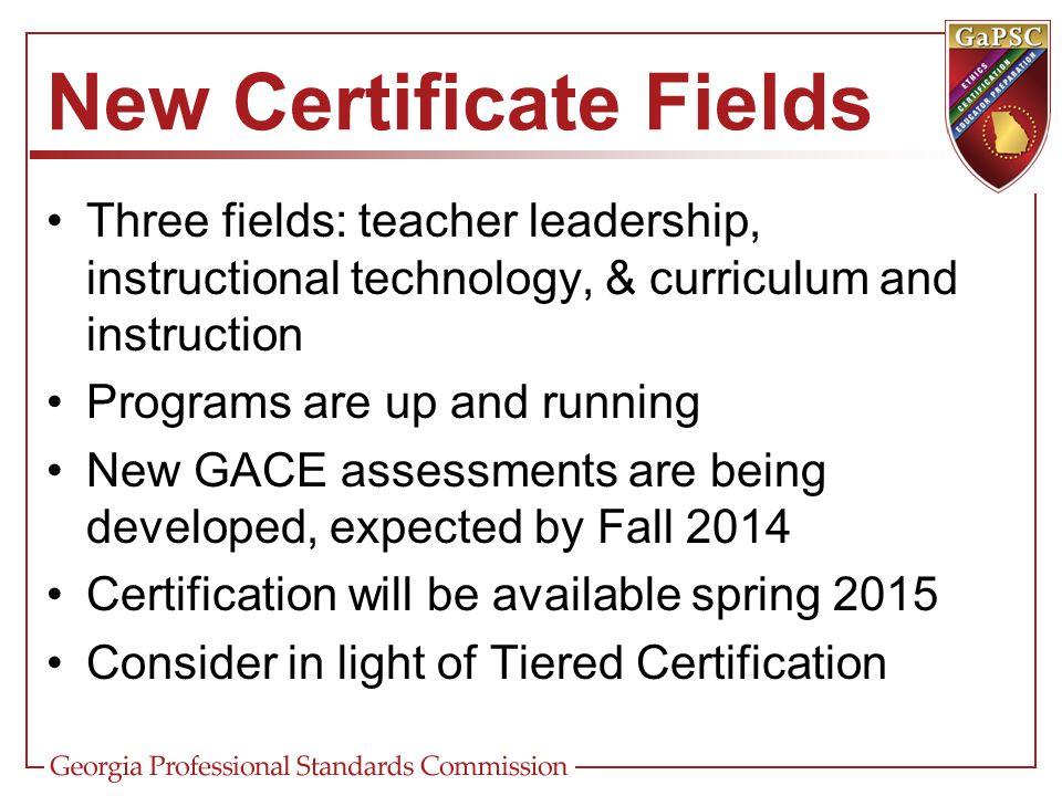New Certificate Fields