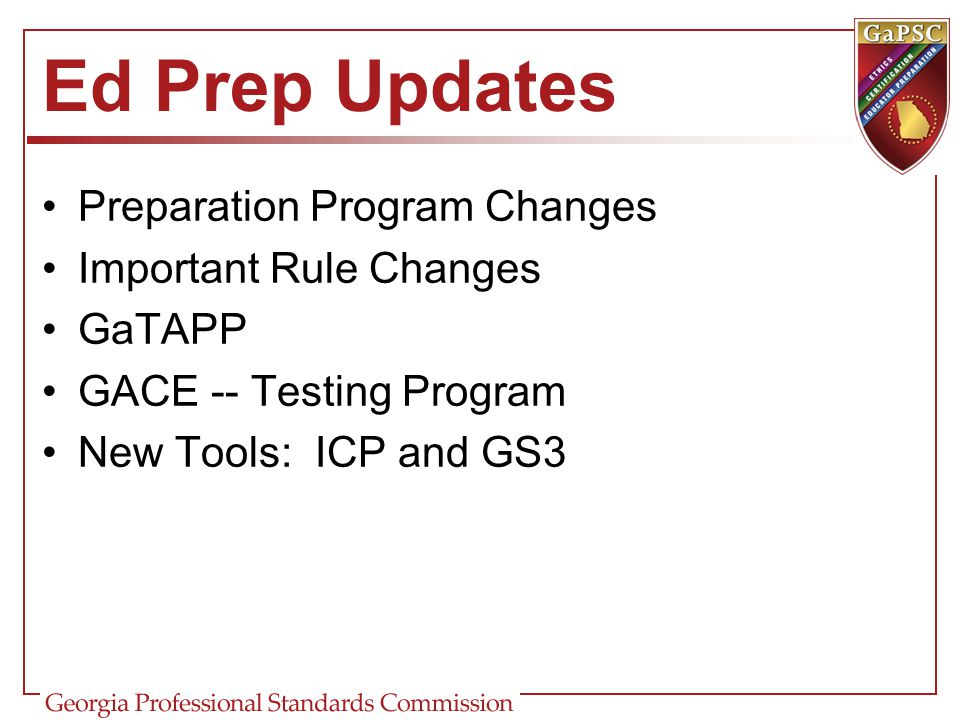 Ed Prep Updates Preparation Program Changes Important Rule Changes
