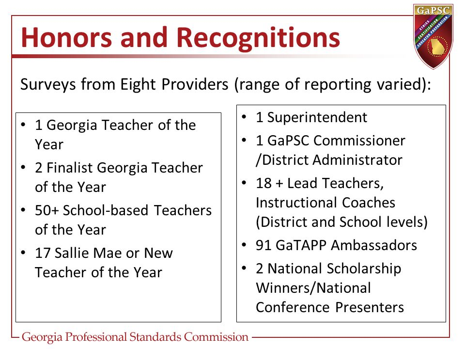 Honors and Recognitions