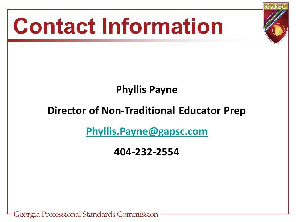 Director of Non-Traditional Educator Prep