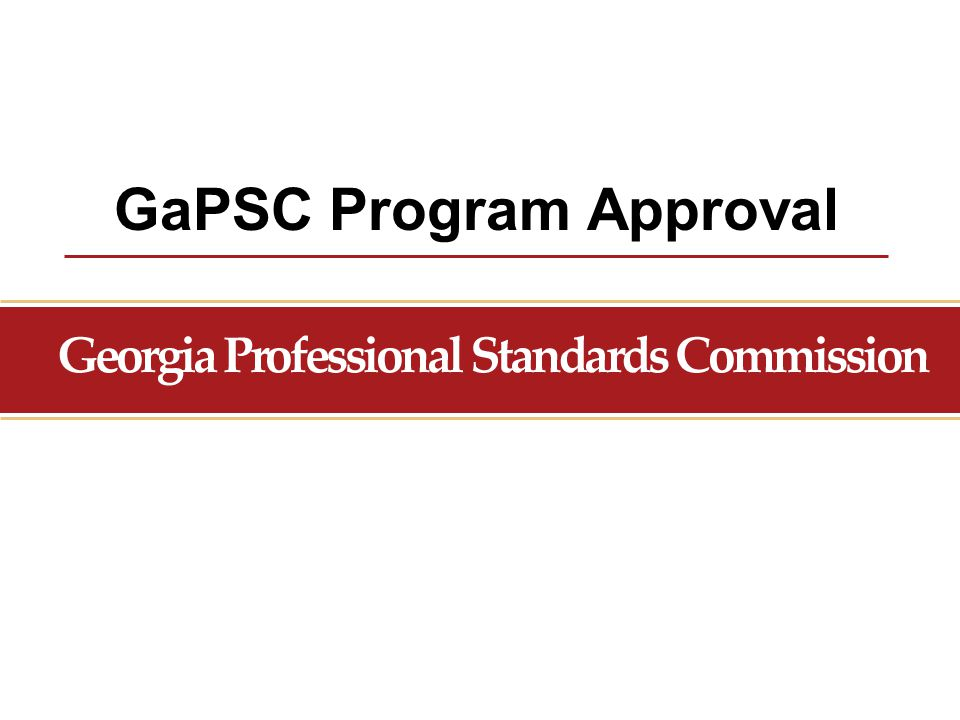 GaPSC Program Approval